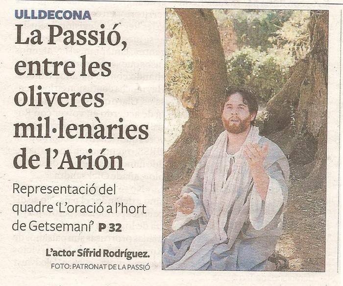 Patronat de la Passió d´Ulldecona > <b>notícies</b> > La Passió surt del teatre !