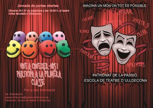 Patronat de la Passió d´Ulldecona > escola de teatre > Comença un nou curs de l´escola de teatre